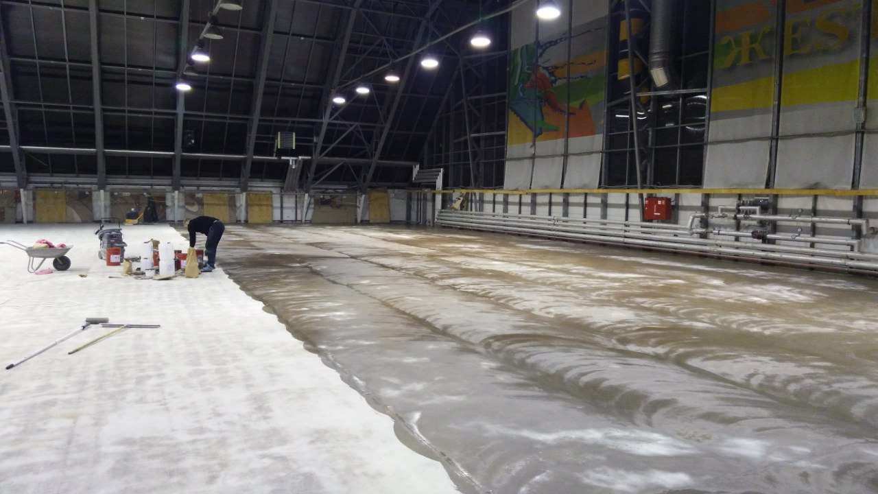 Обеспыливание бетона